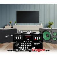 Gói 6:Loa PARAMAX K-1000 +LOA SUB-1000 (2018) +Ampli PARAMAX SA-999 AIR+ Micro Platinum PRO-8000