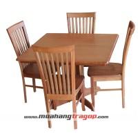 Bàn cafe vuông 1M + 4 ghế Si 2002