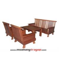Bàn ghế Salon gỗ HN1 cải tiến (có kính)