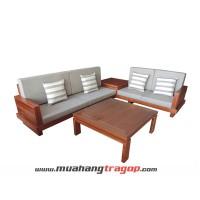 Bàn ghế Salon gỗ HN6 (có kính, nệm)