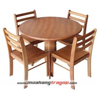Bàn tròn 1m + 4 ghế cafe