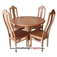 Bàn tròn 1m + 4 ghế rẽ quạt