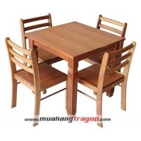 Bàn vuông (800*800) K1 + 4 ghế cafe