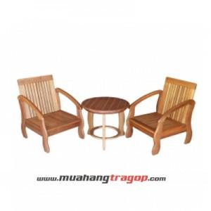 Bàn ghế Salon gỗ HQ (2 Chổ)