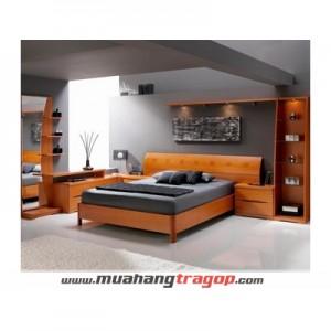 Giường gỗ tự nhiên Quang Phương GN-063