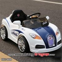 Ô tô điện trẻ em Bugatti Veyron 2 động cơ màu trắng BBT-6699X