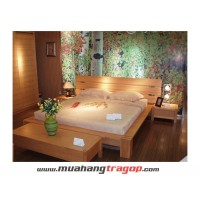Giường gỗ tự nhiên Quang Phương K-024